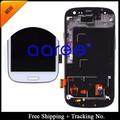 4.8 inch Original Super AMOLED For Samsung  Galaxy S3 i9300 LCD S3 neo i9300i Display LCD screen Digitizer Assembly with frame