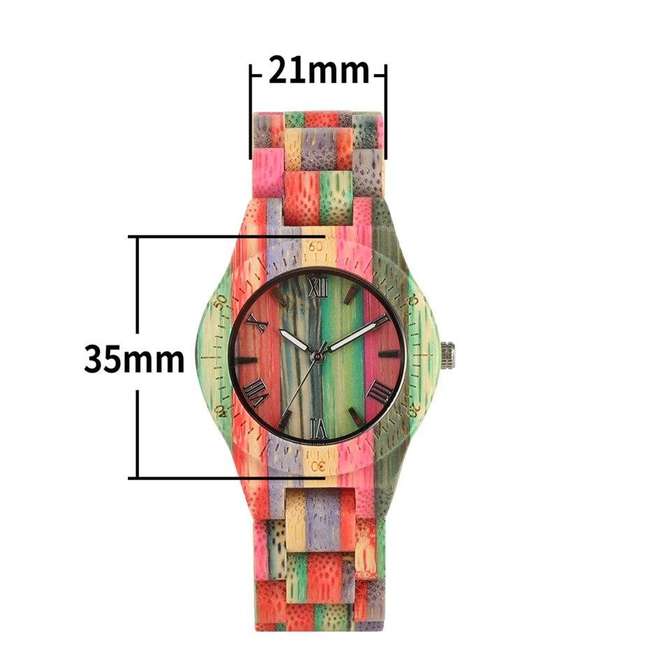 Fashion Men's Watch Luxury Wooden Quartz Watch Popular Unique Candy Color Full Wood Wrist Women Watch Male Clock Souvenir Gifts 2020 2025 (20)