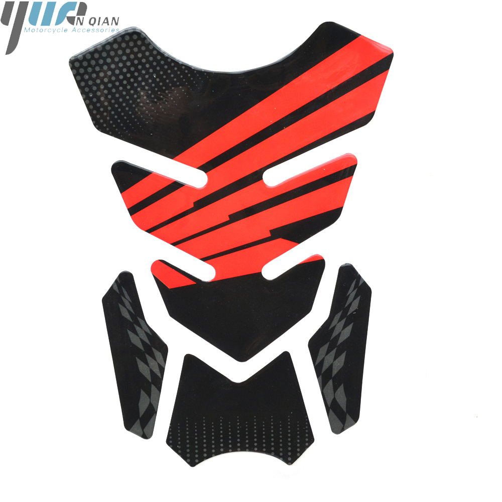 Image 3 - 3D Motorcycle Decal Gas Fuel Tank Pad Protector Skull Racing Sticker For HONDA CBR600RR CBR1000RR HRC RACING Tank Cover Pad-in Decals & Stickers from Automobiles & Motorcycles