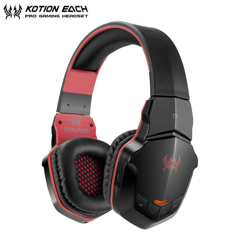 KOTION EACH B3505 Bluetooth Headset Wireless Stereo Headphones with Microphone Volume Control Handsfree Calls for iPhone Xiaomi each b3506 bluetooth headphones with microphone wireless headset bluetooth for iphone samsung xiaomi headphone 4 1 version
