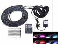 4Pcs 90cm 120cm Flexible RGB Car LED Strip Light Atmosphere Music Active Effect Car Bottom Light