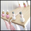 INS Wall Wooden Baby Room On Wall Round ball decorative frame props for Kids Room decorative