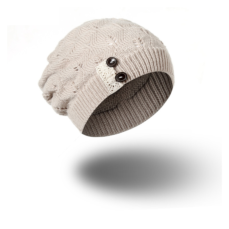 9be5baf7202 2017 The New Women Thick Caps Twist Pattern Women Knitted Sweater Hats Pom  Poms Winter Hat Cotton Beanies Cap Female Hat-in Skullies   Beanies from  Women s ...