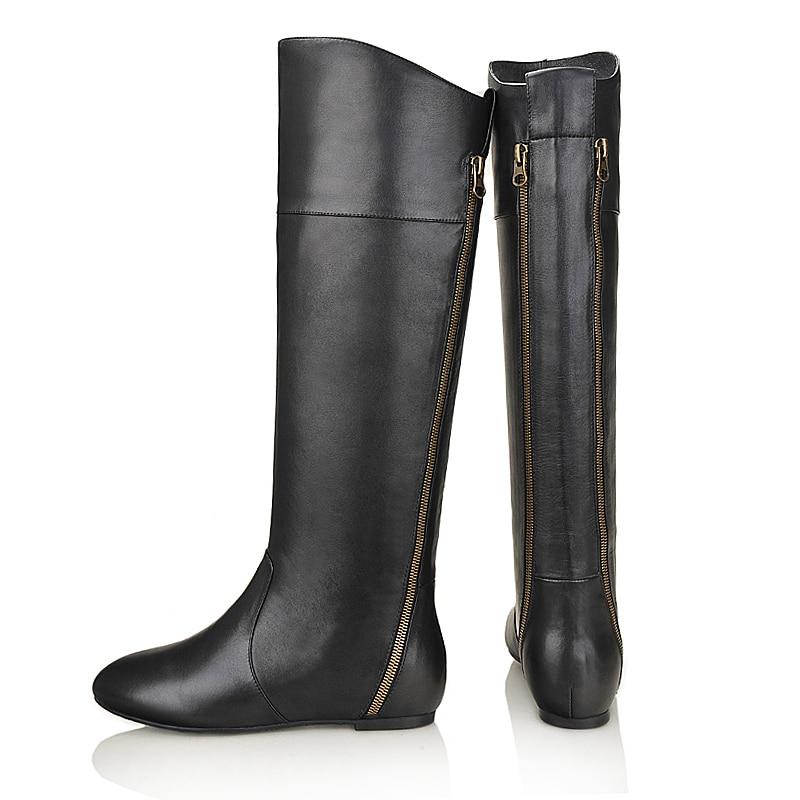 Del Negro Yifsion Tamaño Mujer Black Dedo Nueva D0512 Pie Cuñas Las Cuero Ee uu De Talón Moda Redonda Invierno 9 Rodilla Mujeres Botas 3 Partido Zapatos Elegante EqawrCxHq