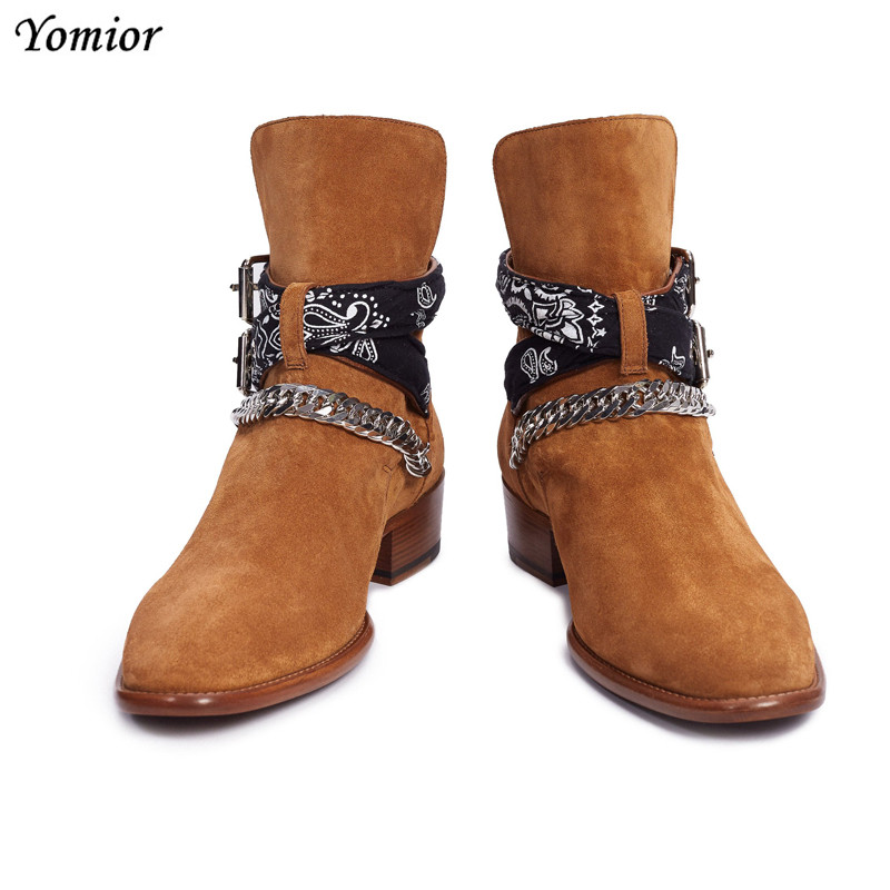 cc4a41ef0b Luxury Brand Handmade Vintage Men Chelsea Boots Genuine Leather Rome ...
