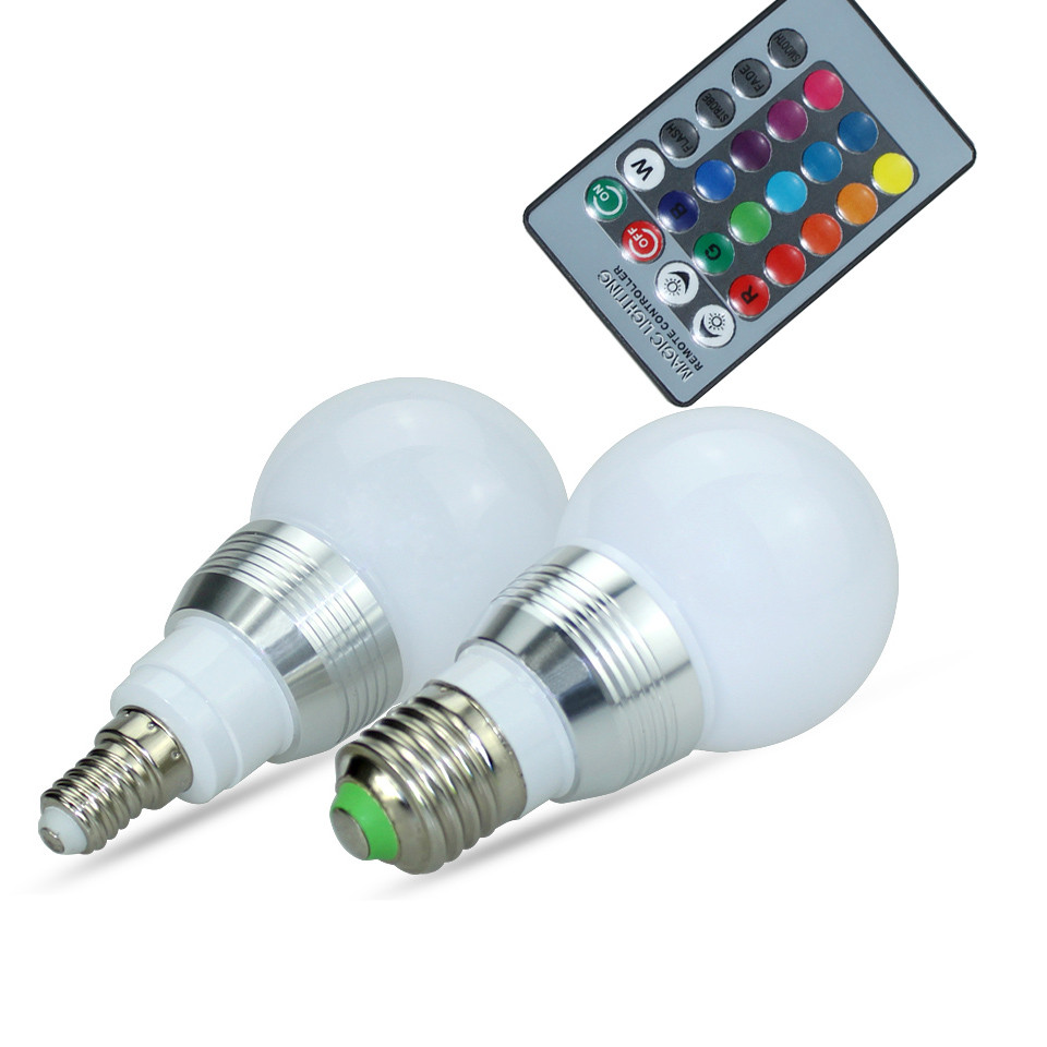 Image 5 - High Power RGB LED Lamp E27 E14 3W 5W RGB 10W 15W RGBW RGBW  Light AC85 265V Lampara 16 Colors Remote Controller bombillas led-in LED Bulbs & Tubes from Lights & Lighting