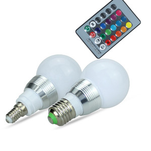 Image 5 - High Power RGB LED Lamp E27 E14 3W RGB Light AC85 265V Lampara 16 Colors Change+Remote Controller bombillas led Christmas