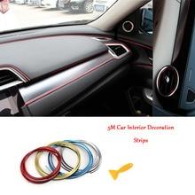 5M Plating Color Car Decorative Strip Sticker Universal Automobile Interior Trim Line Cover Door Protector Acces