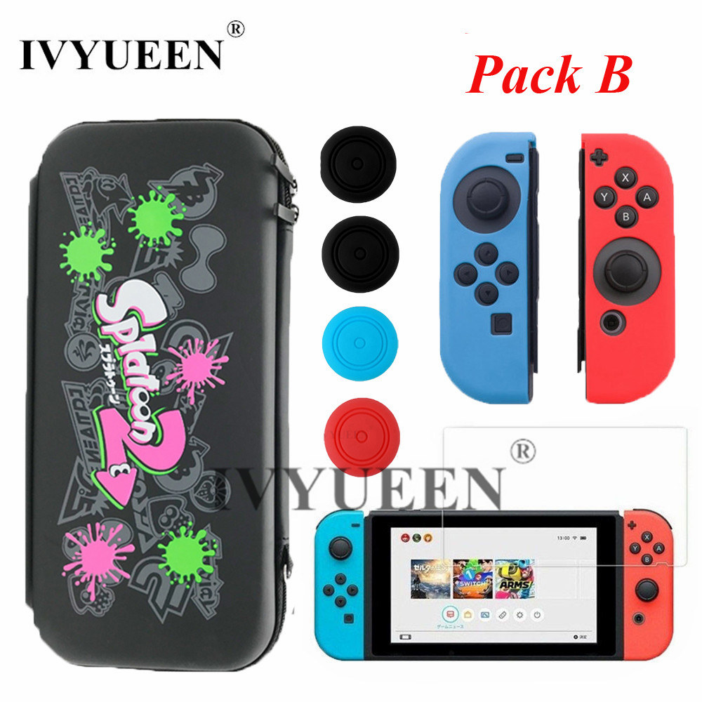 IVYUEEN for Nintend Switch Console Accessories Carrying Protective Storage Bag Case with 10 Game Holder for JoyCon Controller
