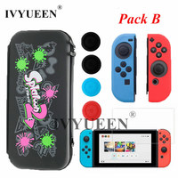 IVYUEEN For Nintend Switch Console Accessories Carrying Protective Storage Bag Case With 10 Game Holder For