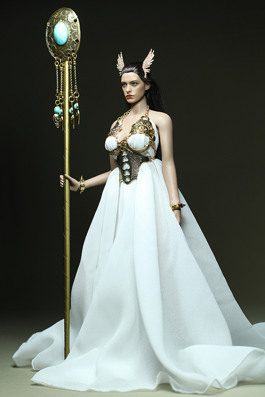Mnotht Custom 1/6 Victory goddess White Long Dress Fit Medium Chest Big Chest Clothes For PH HT Steel Body Model Toys l30