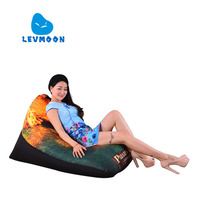 LEVMOON Beanbag Sofa Chair Caribbean Pirates Seat Zac Comfort Bean Bag Bed Cover Without Filler Cotton