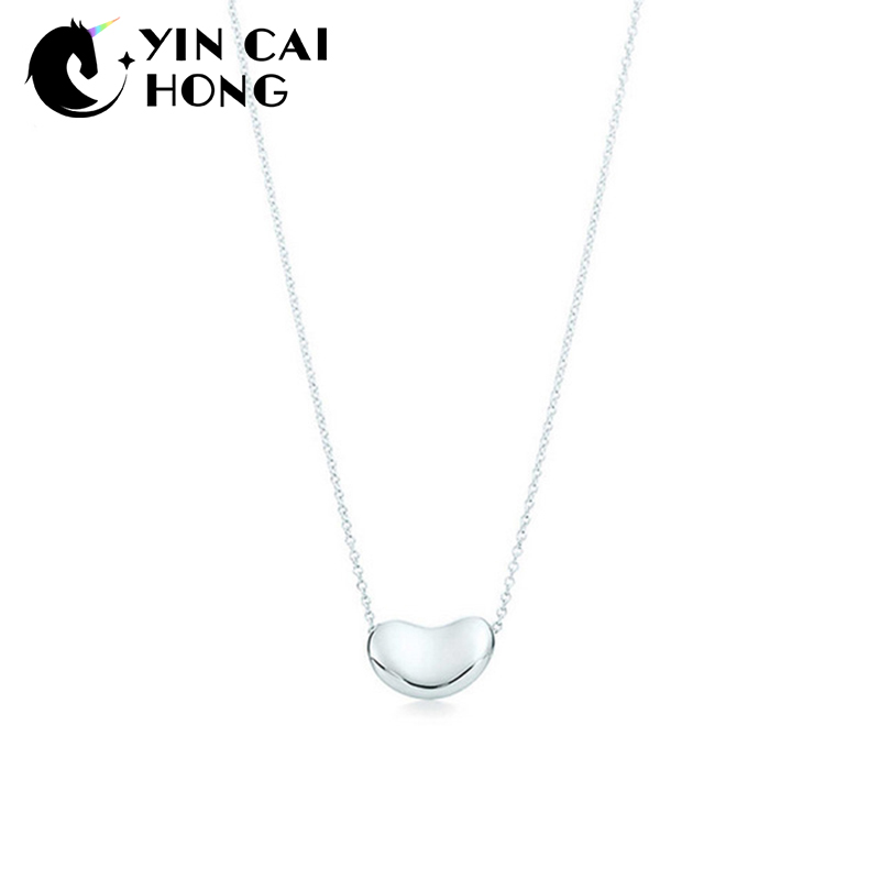NEW Charm Gift 925 Sterling Silver Bean TIFF Attractive Elegance Temperament Necklace World JewelryNEW Charm Gift 925 Sterling Silver Bean TIFF Attractive Elegance Temperament Necklace World Jewelry
