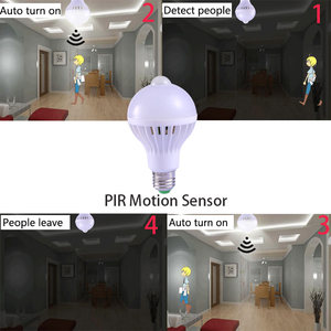 Image 3 - E27 หลอดLedพร้อมMotion Sensor Light 220V 110V PIRหลอดไฟสมาร์ทเด็กNight Light Ampoule Bombillas 5W 7W 9 บ้าน