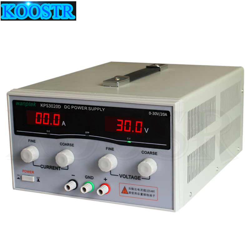 High Precision Adjustable Digital DC Power Supply KPS3020D 30V 20A Switching Power Supply For Computer Phone