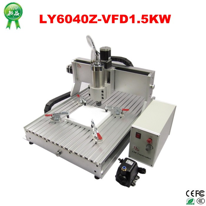 China wholesale mini 3 axis CNC 6040 router machine for aluminium with 1.5KW spindle (3)