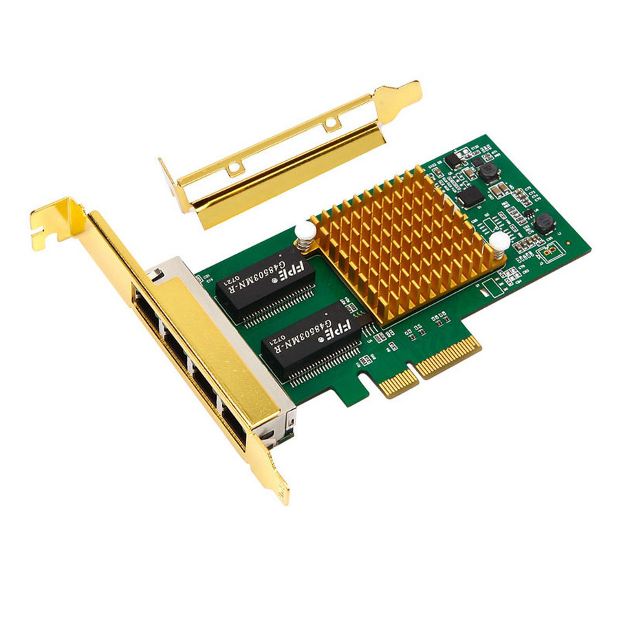 <font><b>I350</b></font>-<font><b>T4</b></font> PCI-E x4 Server 4 Port RJ45 Gigabit Ethernet <font><b>Intel</b></font> i350t4 1000Mbps Network Card image