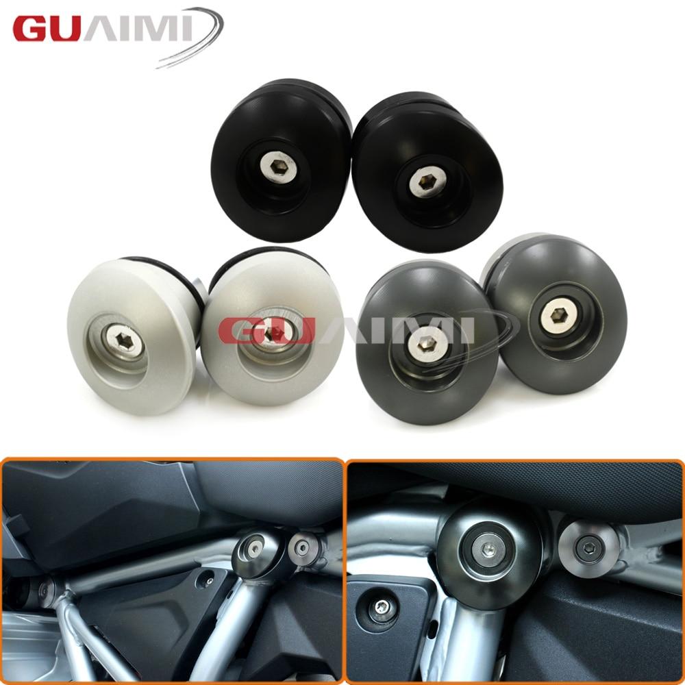 CNC Frame Plug Set (52MM) for BMW R 1200 GS LC 14-17 R1200GS ADV 14-17 cas plug for vvdi 2 for bmw or full version add making key for bmw ews vvdi2 cas plug