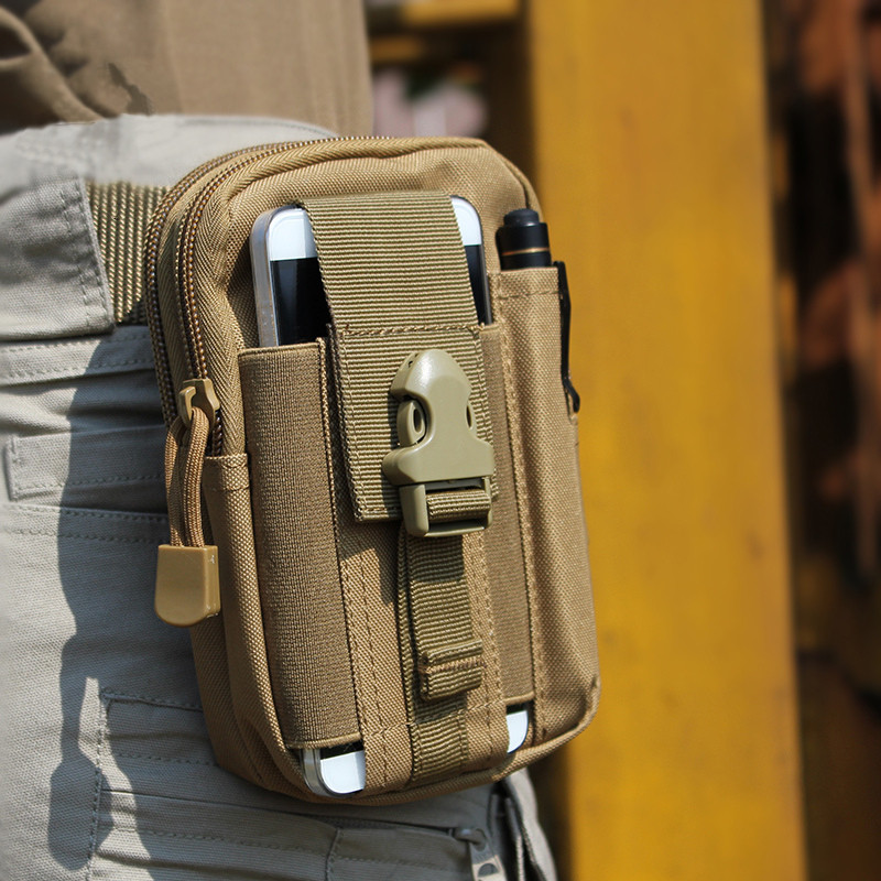 Tactical Molle Pouch Belt Waist Pack Bag Military Waist Fanny Pack Utility EDC Gear Bag for Iphone 6 6s 5s Samsung Galaxy S6 drawstring waist sleeveless utility jumpsuit