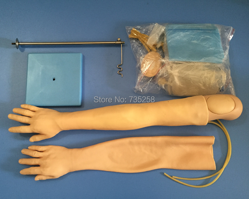 Multi-Function Venipuncture Infusion Model of the Arm,ISO Venipuncture Arm Model economic injectable training arm model with infusion stand iv arm injection teaching model