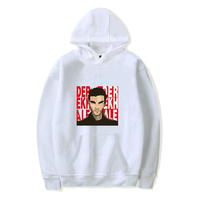 Fashion Street Vitality Harajuku Derek hale Print Hooded Sweatshirt Men/Women Sunshine O Collar Comfortable Pop Youth Sweatshirt