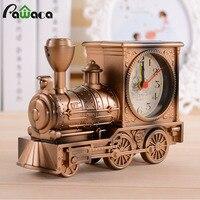 Retro Train Engine Style Clocks Desk Decoration Mechanical Alarm Clock Digital Locomotive Novelty Home Office Decor
