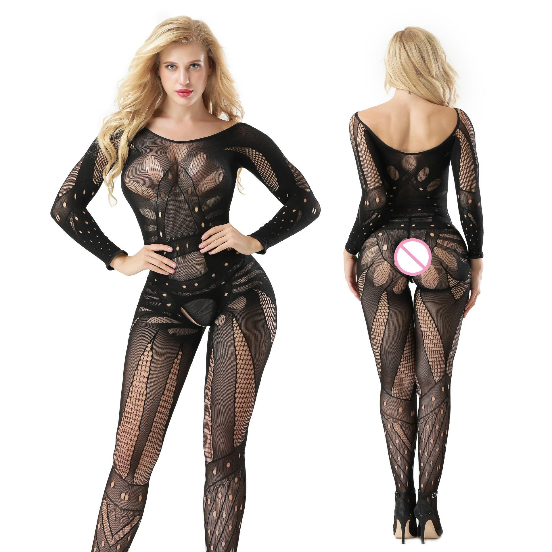 Exotic Apparel Sexy Lingerie High Elastic Tight Hollow Out Fishnet Erotic Net Dress Perspective Sexy Grenadine Short Skirt Sexy Hooded Dresses