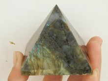 150g-200g beautiful Natural labradorite QUARTZ CRYSTAL pyramid POINT HEALING