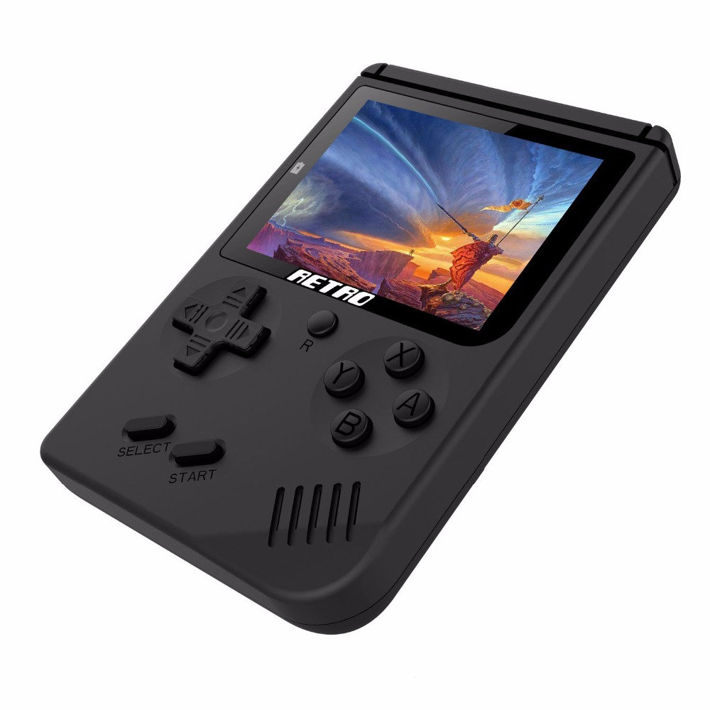 Coolbaby Retro Portable Mini Handheld Game Console 8-Bit 3.0 Inch Big Screen Color LCD Kids Color Game Player Built-in 168 games