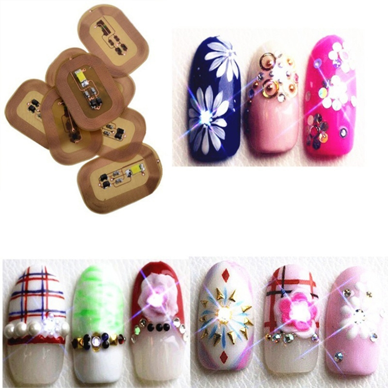 Fashion Nail Stickers LED light Flash Affixed Scintillation Cell Phone DIY Nail Art Decoration|decorative decorative|decor diydecoration led - AliExpress