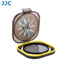 "JJC Moistureproof מקרה עבור מתחת 8 מ""מ מסנני CPL UV מסנן נייר עובי עם עמיד במים סיליקה ג ל יבוש"