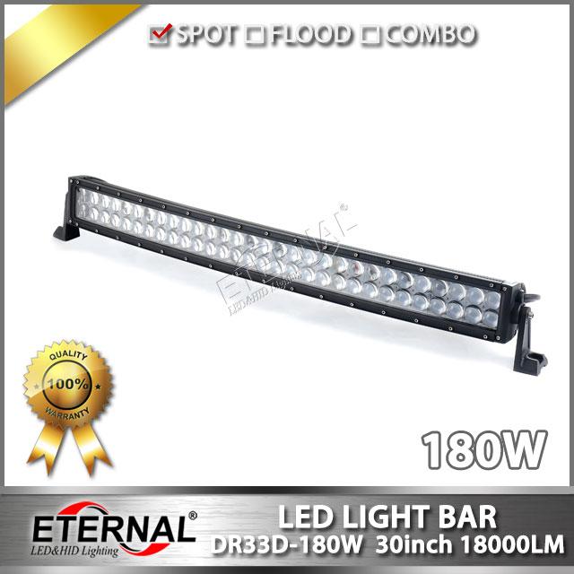 ФОТО 30in 180W radius LED light bar 4x4 ATV UTV SUV racing crawler F150 F250 Raptor driving headlight bumper spotlight