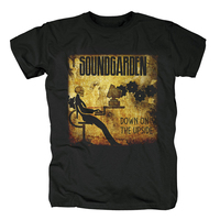 Free Shipping Soundgarden Rock Band Logo Men Black Music T Shirt Size S M L XL