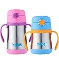 200 ml 1 pc 304 copo de aço inoxidável de isolamento copo bebendo palha das Crianças inverno aprendizagem xícaras de água garrafas de leite