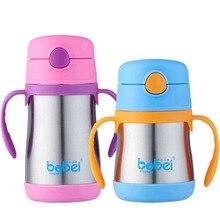 200 ml Enfants de tasse 304 en acier inoxydable isolation paille tasse d'hiver d'apprentissage tasses d'eau bouteilles de lait