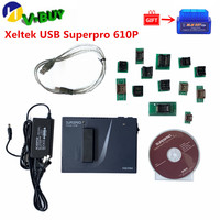 Xeltek USB Superpro 610P with 13 Adapters Universal Programmer IC Programmer 13PCS Burn Block Adapters