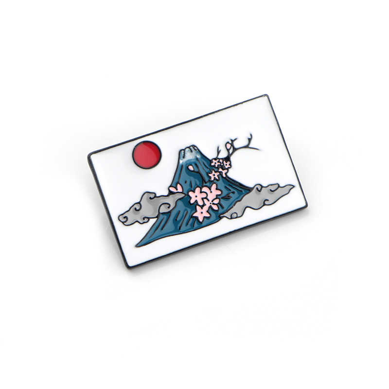 Известный туристический пейзаж крепление Fuji diy шпилька из цинкового сплава рубашка Шарм пальто insignia одежда рюкзак, аксессуар медаль броши E0680