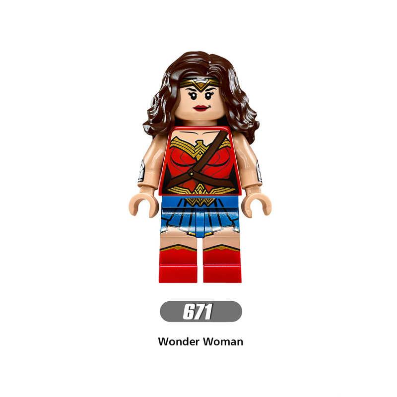 Супергерой Marvel, война бесконечности, Мстители, чудо-женщина, Стражи Галактики, Бэтмен X man, флэш-строительные блоки, игрушка, фигурка