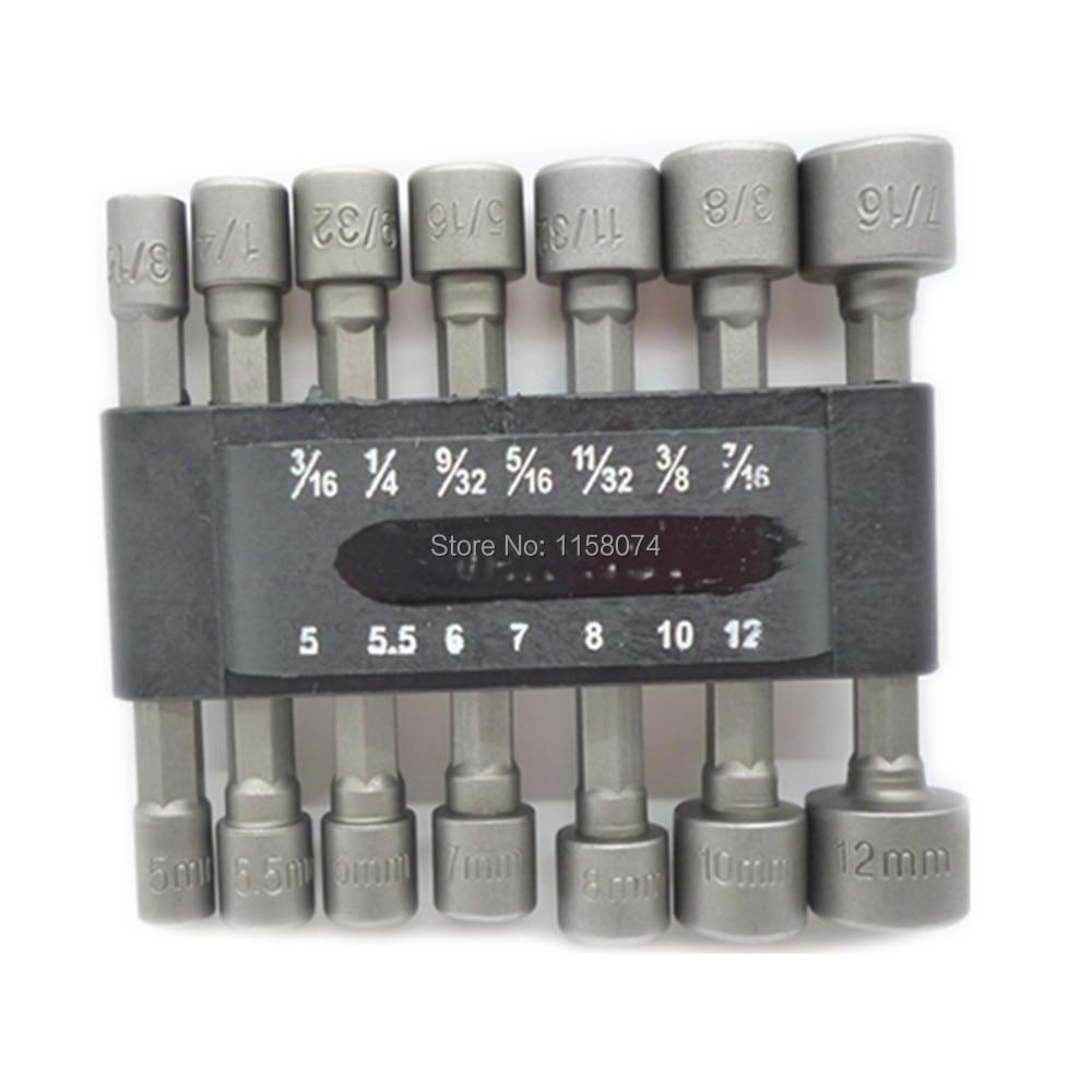 """10pc 1//4/"""" Hex Power écrou pilote prise Set métrique impact forets 4 mm à 13 mm"""