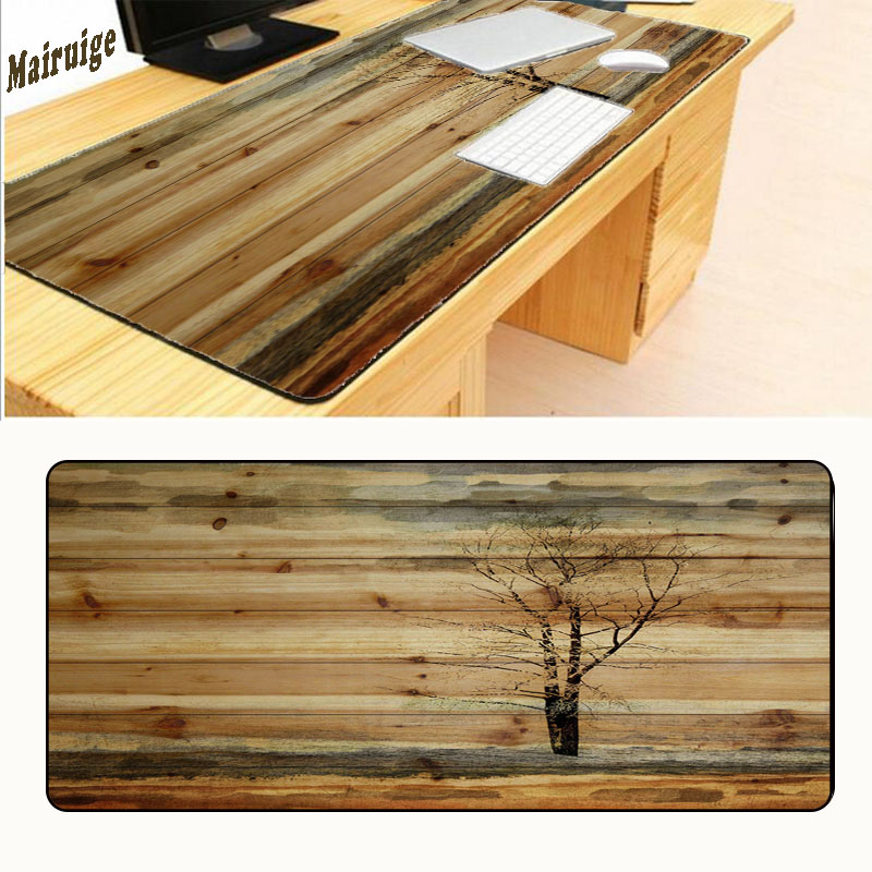 Mairuige Wooden Floor Computer Large Mouse Pad Mousepads Radiation Non-Skid Rubber Pad Overlock Mouse Pad for 900*400*2mm