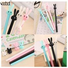 VODOOL Cute Cartoon Rabbit Ballpoint Pen Kawaii Gel Ball Pens School Supplies Stationery Creative Ink Pen For School Stationery diamond ballpoint pen japanese cartoon sailor moon pen goddess scepter kawaii pen student pennen pink cute girl ball point pens
