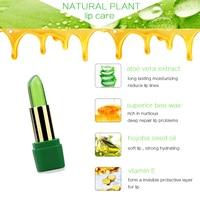 99% ALOE VERA Jelly Lipstick Temperature Change Color Moisturizing Lip Stick Pink Tint Makeup Batom 2