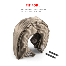 TITANIUM turbo heat shield fit t2 , t25 ,t28 , gt28 , gt30 , gt35, and most t3 turbine housing turbo charger