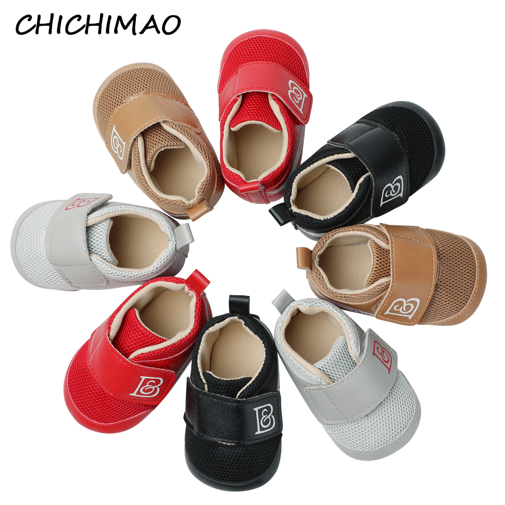 Baby Shoes First Walkers Spring Sports Canvas Boy Sneakers Newborn Anti-slip Toddler Baby Boy Shoes Solid Crib Shoes 0-18 Month