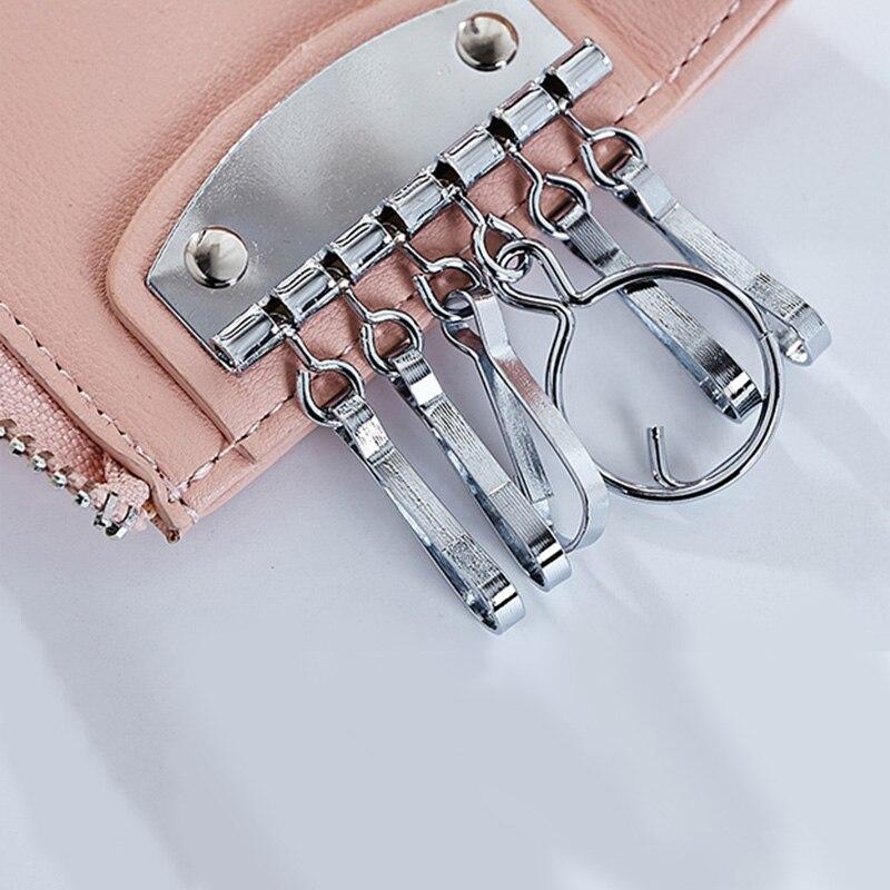 3157 nyckelhängen Kvinnor Solid dragkedja Lady Väskor PU Läder - Plånböcker - Foto 4
