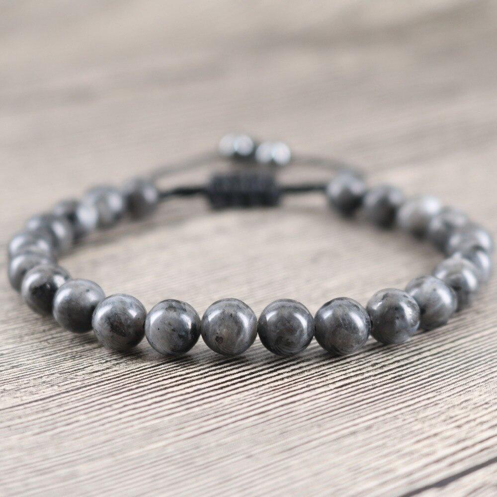 Großhandel Hochwertigem Labradorit Stein Modeschmuck Natürliche Mondstein Perlen Mit Hämatit geliebten Geschenk Perlen Weben Armbänder