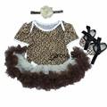 Mamelucos del verano del leopardo de los bebés dress 2017 new girl corto manga bebe mameluco dress ropa niños que arropan el sistema trajes para niñas