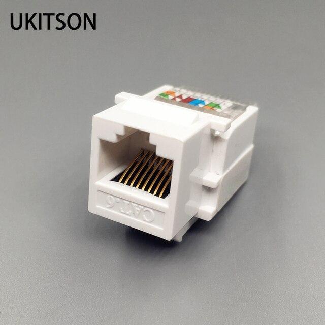 CAT6 RJ45ใส่Keystone Gigabit LAN Couplerปลั๊กมาตรฐานT568A/Bเครือข่ายโมดูลโมดูลสำหรับอินเทอร์เน็ตแจ็คEthernet Connector