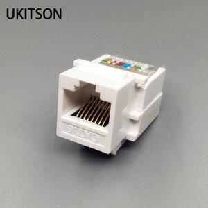 Image 1 - CAT6 RJ45 הכנס Keystone Gigabit LAN מצמד תקע סטנדרטי T568A/B רשת מודול חריץ עבור שקע אינטרנט Ethernet מחבר