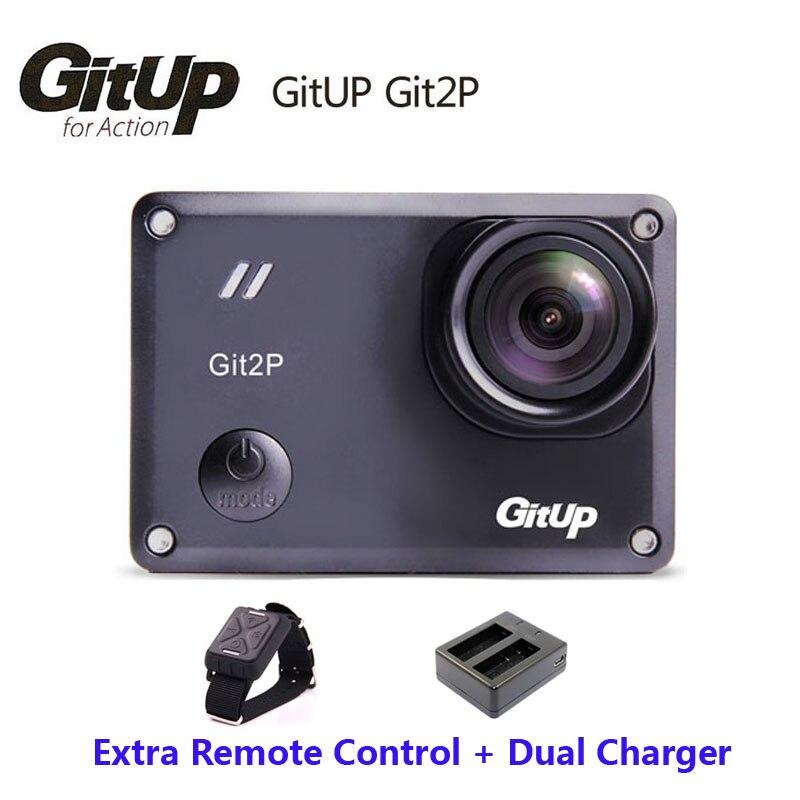 Original gitup git2p cámara mini deportes acción 16 m Ultra 2 K casco videocámara DV + muñeca Control remoto + cargador Doble